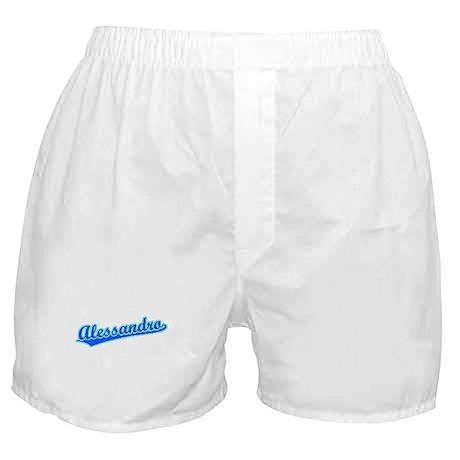 Retro Alessandro (Blue) Boxer Shorts