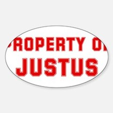 Property of JUSTUS Oval Decal