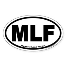 Meadow Lane Farms MLF Euro Oval Decal