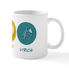 Peace Love Lyrics Mug
