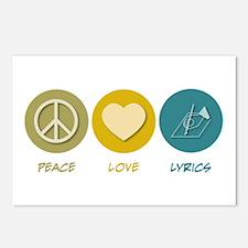 Peace Love Lyrics Postcards (Package of 8)