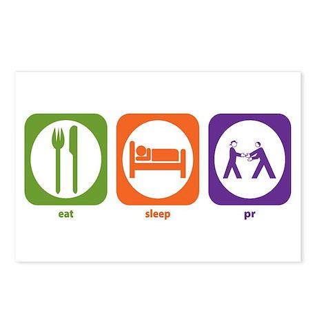 Eat Sleep PR Postcards (Package of 8)