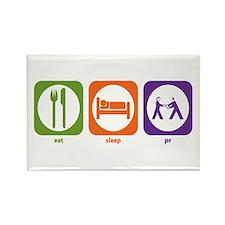 Eat Sleep PR Rectangle Magnet