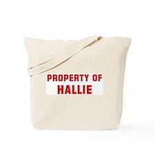 Property of HALLIE Tote Bag