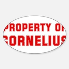 Property of CORNELIUS Oval Decal
