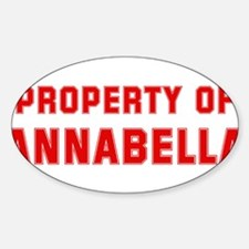 Property of ANNABELLA Oval Decal