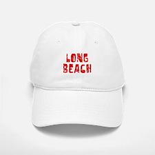 Long Beach Faded (Red) Baseball Baseball Cap