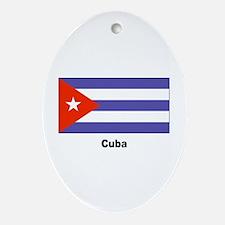 Cuba Cuban Flag Keepsake (Oval)