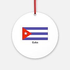 Cuba Cuban Flag Keepsake (Round)