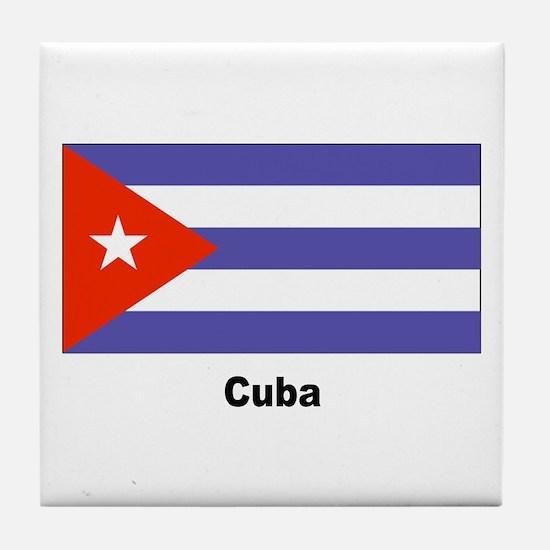 Cuba Cuban Flag Tile Coaster