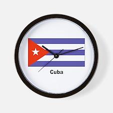 Cuba Cuban Flag Wall Clock
