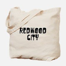 Redwood City Faded (Black) Tote Bag