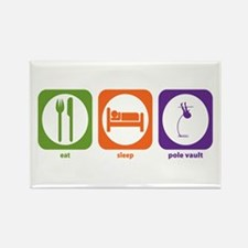 Eat Sleep Pole Vault Rectangle Magnet
