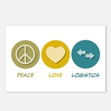 Peace Love Logistics Postcards (Package of 8)