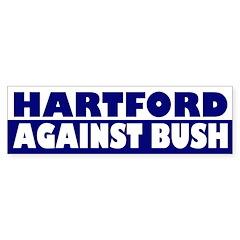 Hartford Against Bush bumper sticker