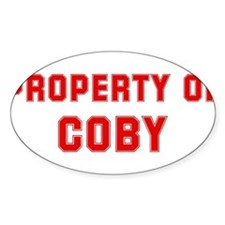 Property of COBY Oval Decal
