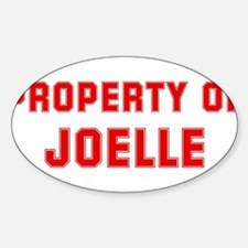Property of JOELLE Oval Decal