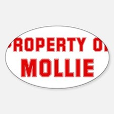 Property of MOLLIE Oval Decal