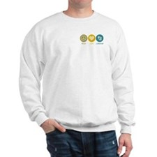 Peace Love Literature Sweatshirt