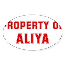 Property of ALIYA Oval Decal