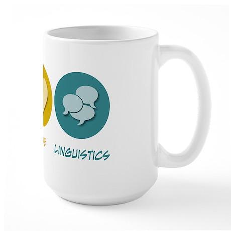 Peace Love Linguistics Large Mug