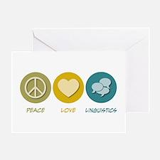 Peace Love Linguistics Greeting Card