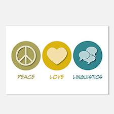 Peace Love Linguistics Postcards (Package of 8)