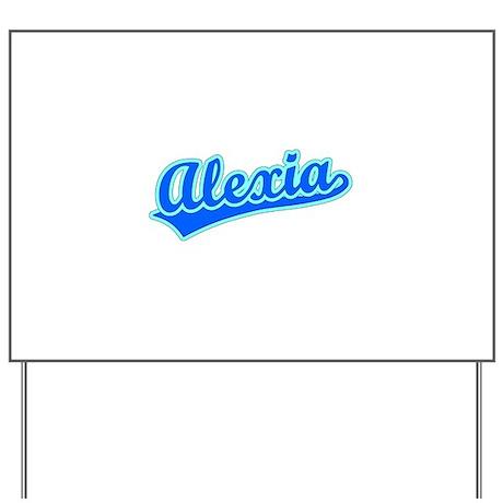 Retro Alexia (Blue) Yard Sign