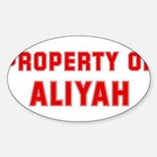Property of ALIYAH Oval Decal