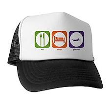 Eat Sleep Planes Trucker Hat