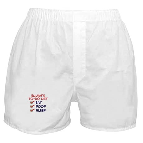 Elijah's To-Do List Boxer Shorts