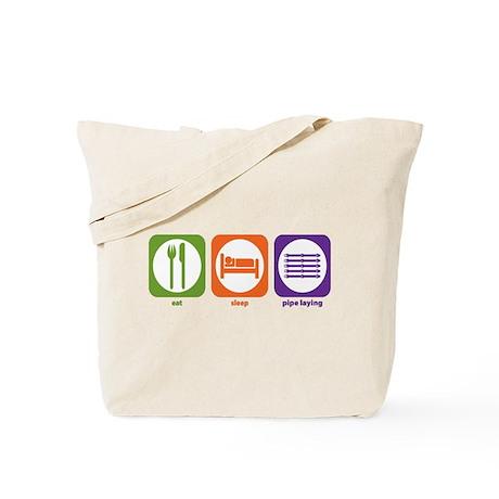 Eat Sleep Pipe Laying Tote Bag