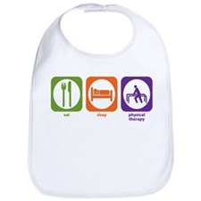 Eat Sleep Physical Therapy Bib