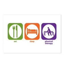 Eat Sleep Physical Therapy Postcards (Package of 8