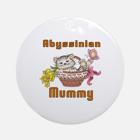 Abyssinian Cat Designs Round Ornament