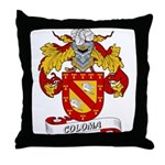 Coloma Family Crest Throw Pillow
