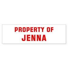 Property of JENNA Bumper Bumper Sticker