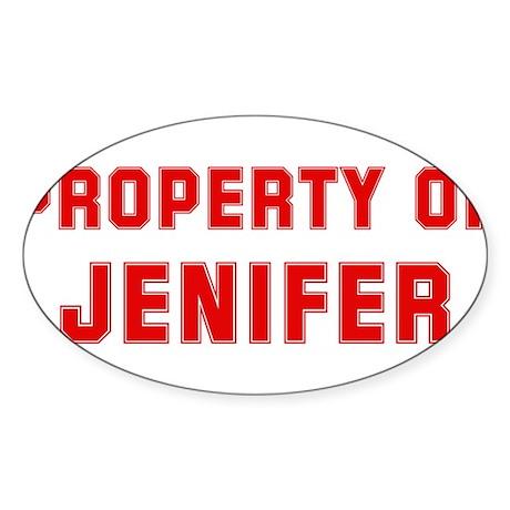 Property of JENIFER Oval Sticker