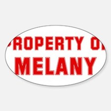 Property of MELANY Oval Decal