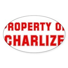 Property of CHARLIZE Oval Decal