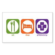 Eat Sleep Phlebotomy Rectangle Decal