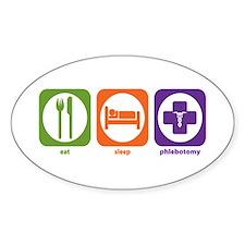 Eat Sleep Phlebotomy Oval Decal