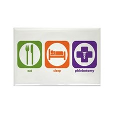 Eat Sleep Phlebotomy Rectangle Magnet