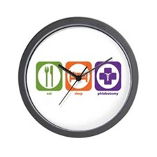 Eat Sleep Phlebotomy Wall Clock