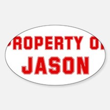 Property of JASON Oval Decal