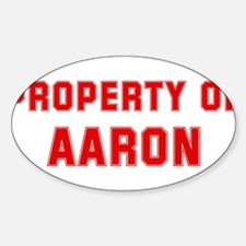 Property of AARON Oval Decal