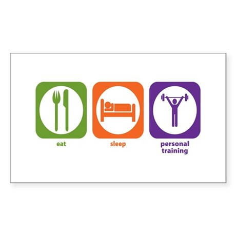 Eat Sleep Personal Training Rectangle Sticker