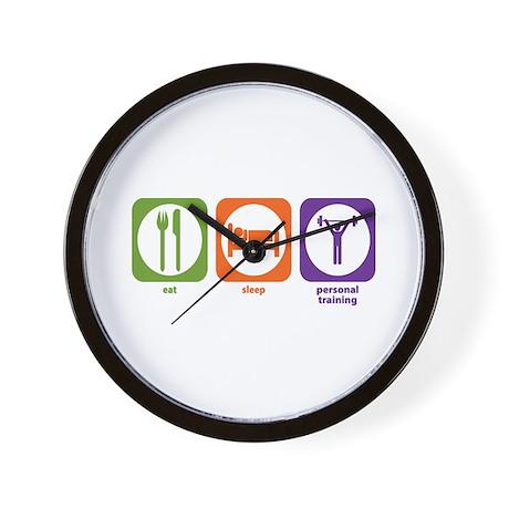 Eat Sleep Personal Training Wall Clock