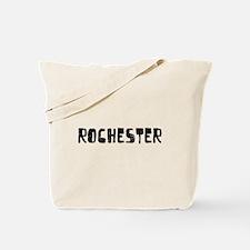 Rochester Faded (Black) Tote Bag
