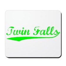 Vintage Twin Falls (Green) Mousepad